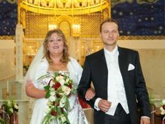 Trauung von Karin & Wolfgang in der Otto Wagner Kirche (am Steinhof) in Wien