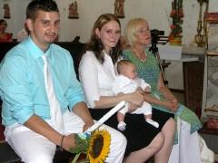 Taufe von Raphael in der Pfarre Leopoldau in Wien Floridsdorf